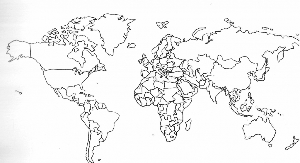 Printable World Maps Fresh Black And White World Map With Continents regarding Black And White Printable World Map With Countries Labeled