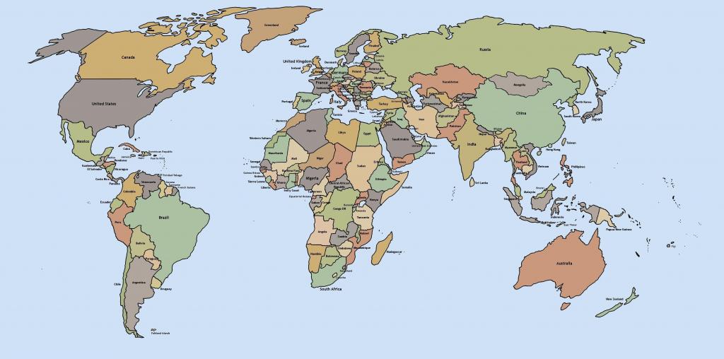 Printable World Maps Printable Free Printable Black And White World throughout Free Printable World Map