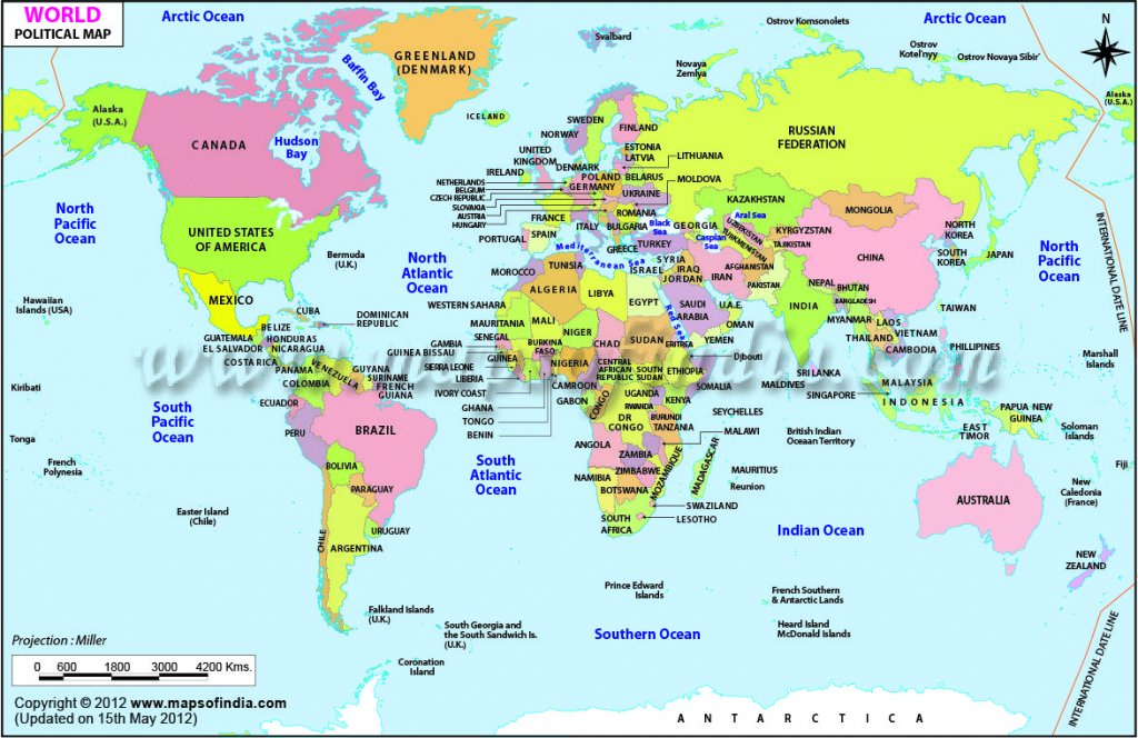 Printable World Maps - World Maps - Map Pictures with Free Printable World Map With Countries Labeled For Kids