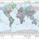 Printable World Time Zone Map And Travel Information | Download Free For Printable World Time Zone Map