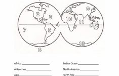Free Printable Map Of Continents And Oceans