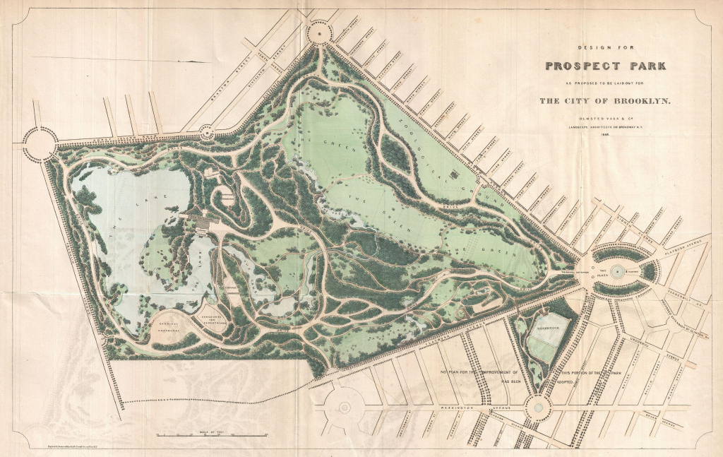 Prospect Park Map for Prospect Park Map Printable