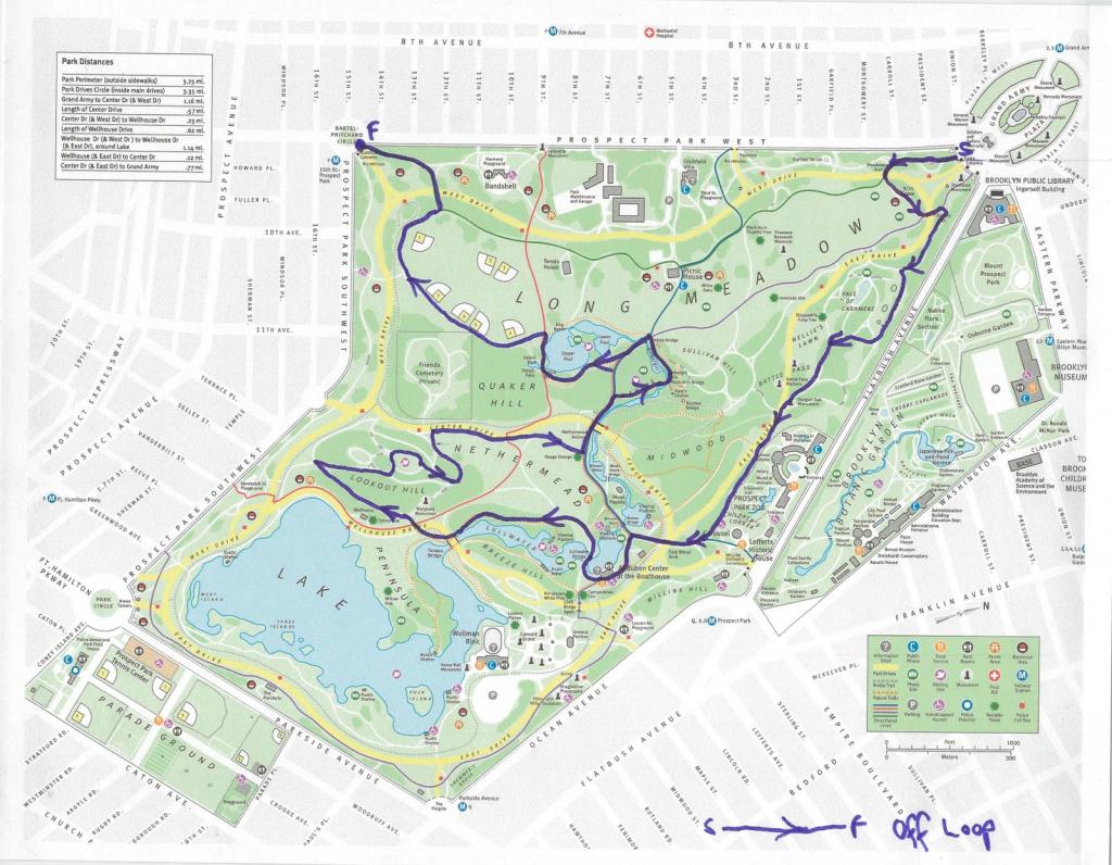 Prospect Park Map intended for Prospect Park Map Printable