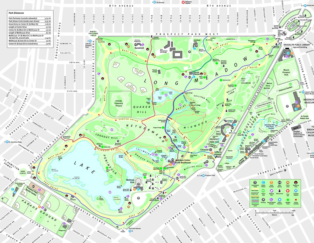 Prospect Park Map pertaining to Prospect Park Map Printable