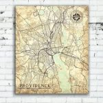 Providence Ri Canvas Print Rhode Island State Providence City Ri Inside Printable Map Of Providence Ri