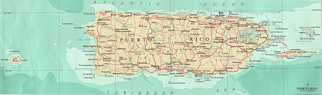 Puerto Rico Maps - Perry-Castañeda Map Collection - Ut Library Online within Printable Map Of Puerto Rico