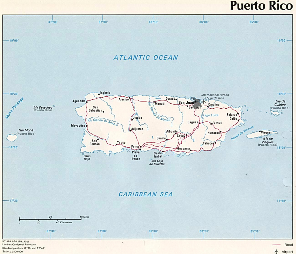 Puerto Rico Maps | Printable Maps Of Puerto Rico For Download pertaining to Printable Map Of Puerto Rico With Towns