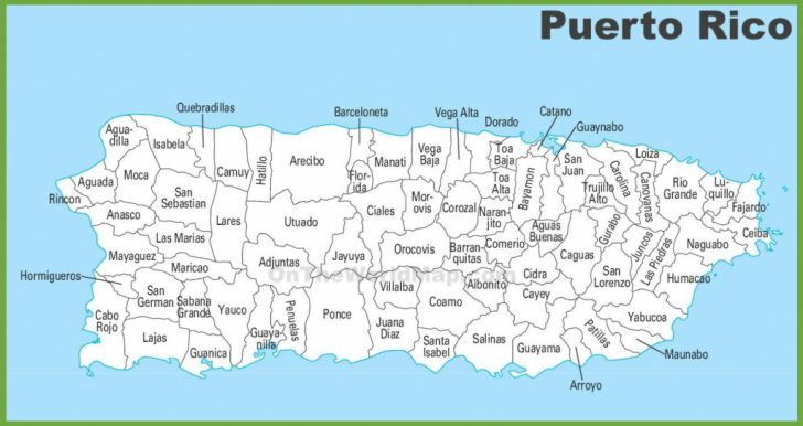 Printable Map Of Puerto Rico