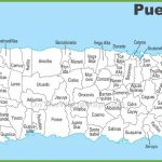 Puerto Rico Municipalities Map   Printable Map Of Puerto Rico Intended For Outline Map Of Puerto Rico Printable