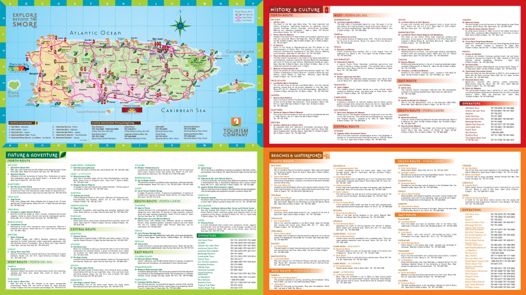 Puerto Rico Tourist Map inside Printable Map Of Puerto Rico