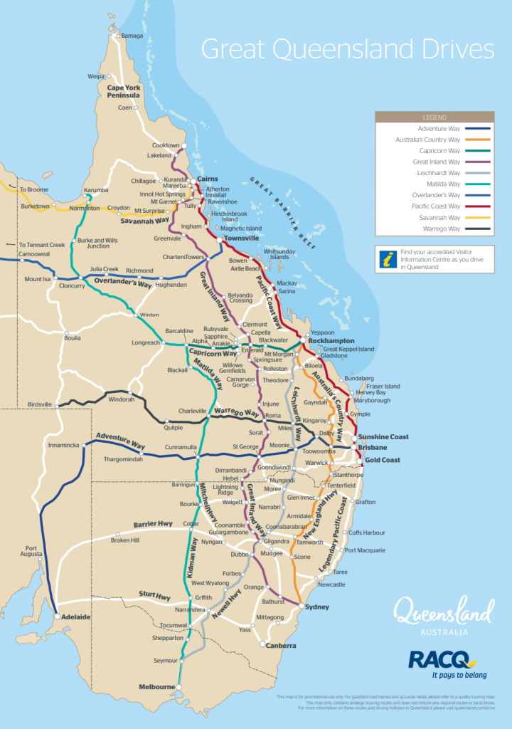 Queensland Drive Maps | Outback Queensland for Queensland Road Maps Printable