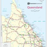Queensland Road Map For Queensland Road Maps Printable
