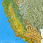 Raised Relief Maps Of California In California Relief Map Printable