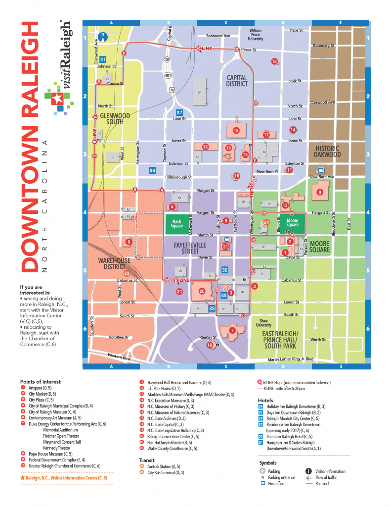 Raleigh: Local Information - Seaall 2017 - Research Guides At pertaining to Printable Map Of Downtown Raleigh Nc