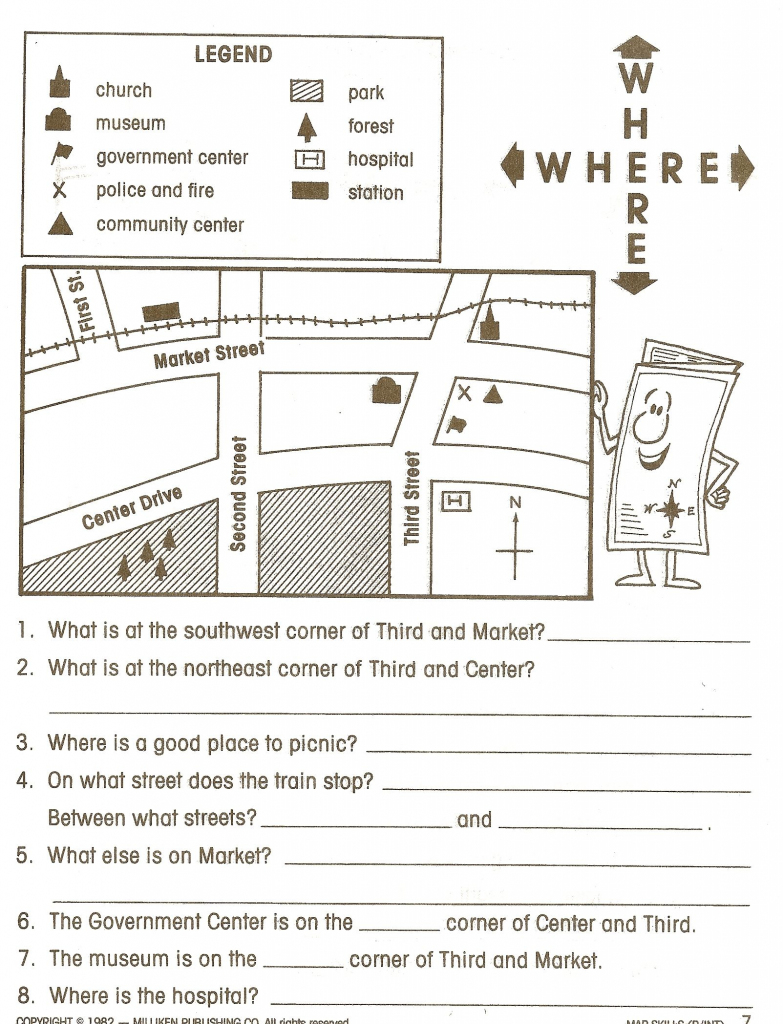 Reading Maps Worksheet Free Worksheets Library Download And in 6Th Grade Map Skills Worksheets Printable