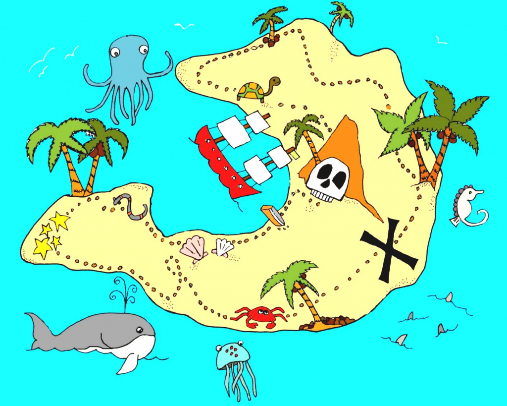 Real Treasure Maps Found Clipart Animals Cliparts With Hot - Wikiclipart within Printable Kids Pirate Treasure Map
