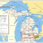 Reference Map Of Michigan, Usa   Nations Online Project | ~ The For Printable Map Of Michigan
