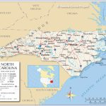 Reference Maps Of North Carolina, Usa   Nations Online Project For Printable Map Of North Carolina Cities