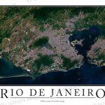 Rio De Janeiro, Brazil Satellite Map Print   Aerial Image Poster With Printable Map Of Rio De Janeiro