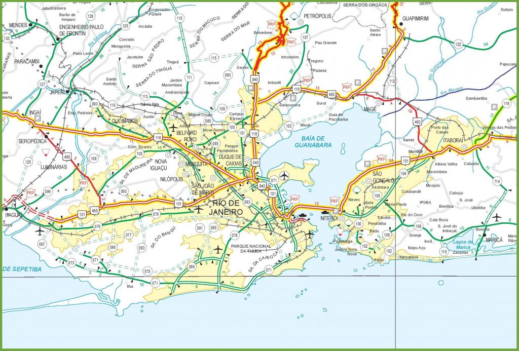 Rio Road Map - Rio De Janeiro Road Map (Brazil) with regard to Printable Map Of Rio De Janeiro