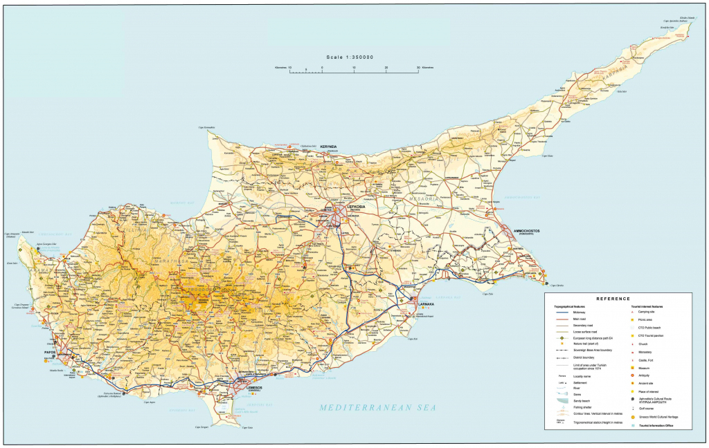 Road Map Of Cyprus | Tourist Map Of Cyprus | Maps Of Districts In Cyprus within Printable Map Of Cyprus