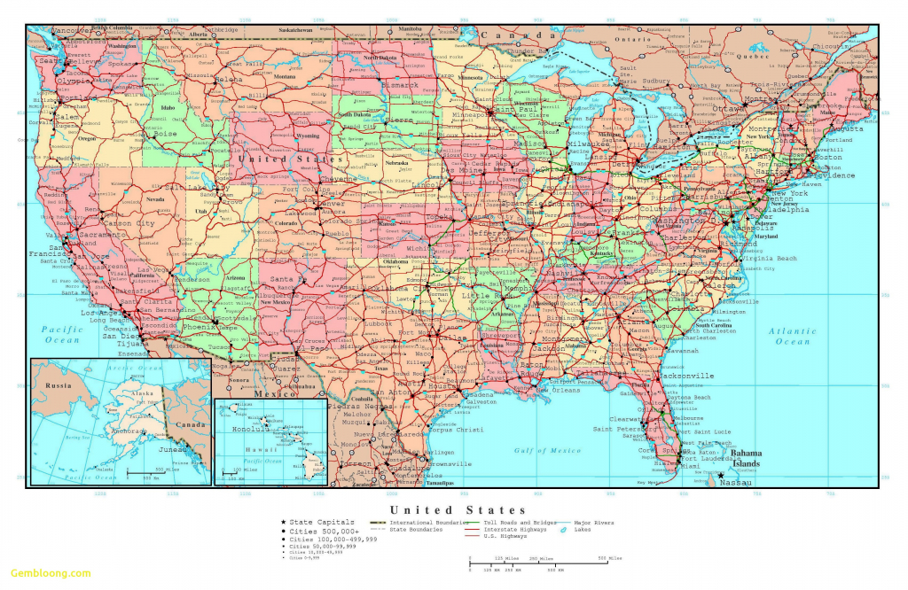 Road Map Of East Coast United States Valid Printable Map The United regarding United States Road Map Printable