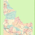 Road Map Of Idaho With Cities And Towns Inside Printable Map Of Idaho