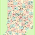 Road Map Of Indiana With Cities With Printable Map Of Indiana