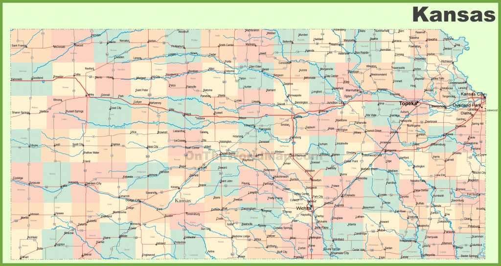 Road Map Of Kansas With Cities regarding Printable Map Of Kansas