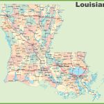 Road Map Of Louisiana With Cities Inside Louisiana State Map Printable