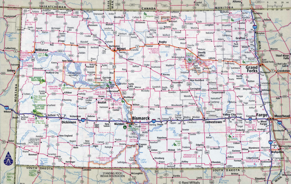Road Map Of Nd And Travel Information | Download Free Road Map Of Nd regarding Printable Map Of North Dakota