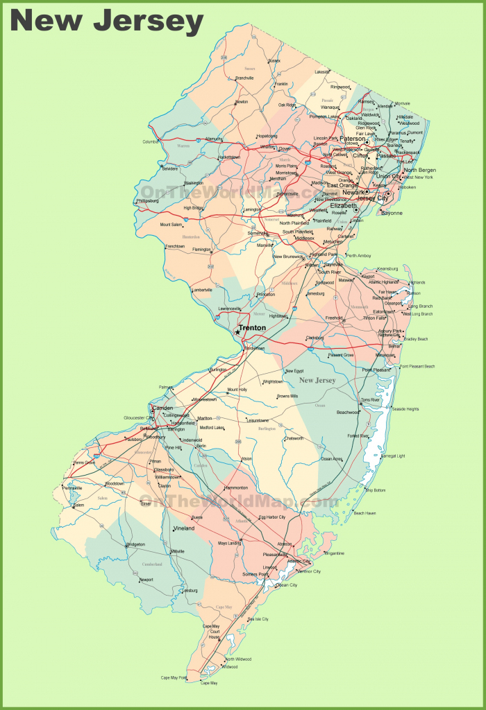 Road Map Of New Jersey With Cities in Printable Map Of New Jersey