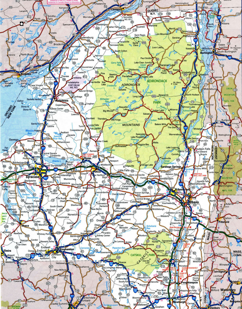 Road Map Of Nys And Travel Information | Download Free Road Map Of Nys for Road Map Of New York State Printable