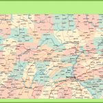 Road Map Of Pennsylvania With Cities For Printable Road Map Of Pennsylvania