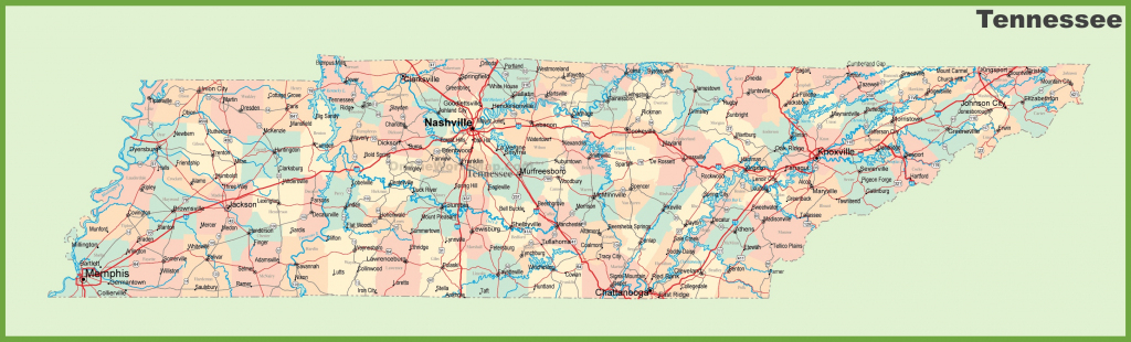 Road Map Of Tennessee With Cities regarding Printable Map Of Tennessee With Cities