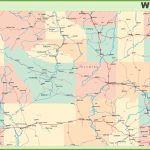 Road Map Of Wyoming With Cities Regarding Printable Road Map Of Wyoming