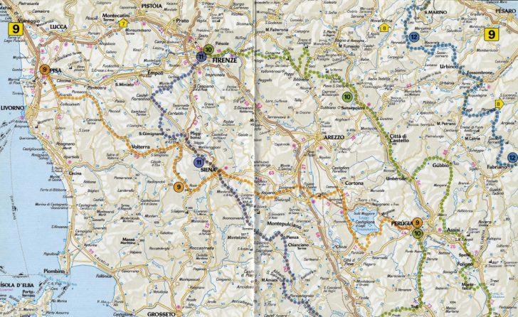 Printable Map Of Tuscany