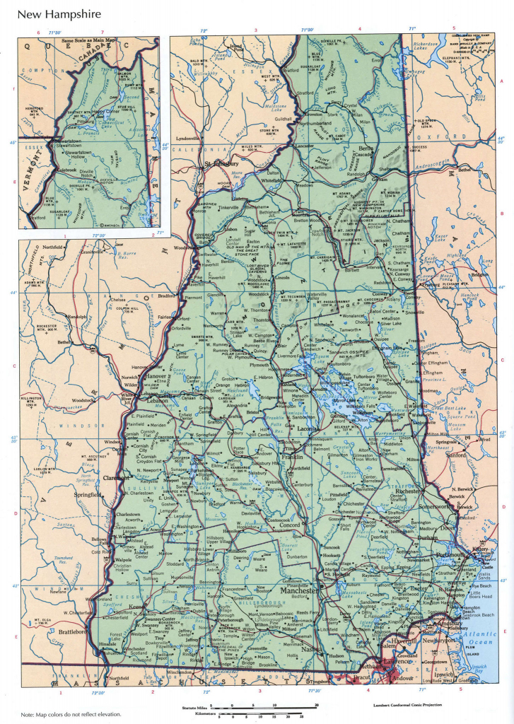Road Maps Of Nh #460597 pertaining to Printable Road Map Of New Hampshire