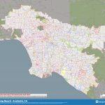 Road, Zip Code & Neighborhood Map Of Los Angeles, Long Beach Throughout Printable Map Of Long Beach Ca