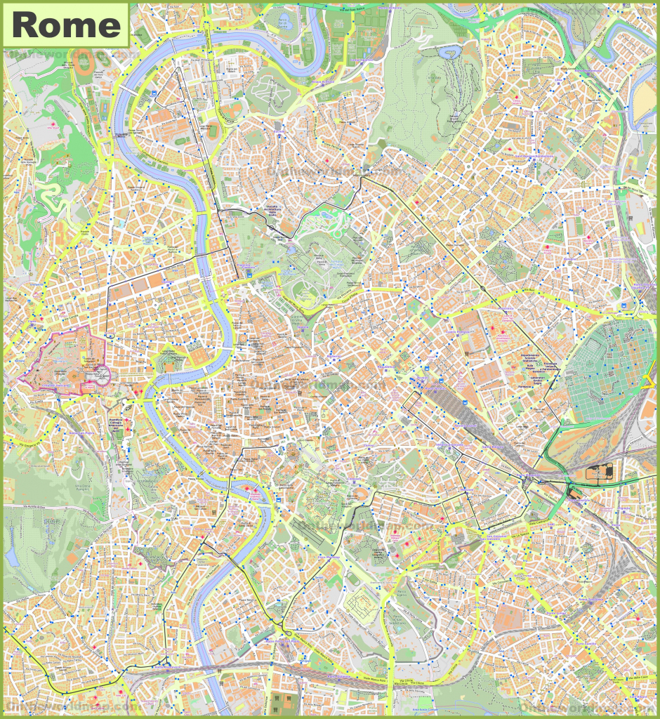 Rome Maps | Italy | Maps Of Rome (Roma) in Printable Map Of Rome