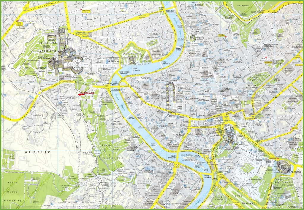 Rome Maps | Italy | Maps Of Rome (Roma) pertaining to Printable Map Of Rome Attractions