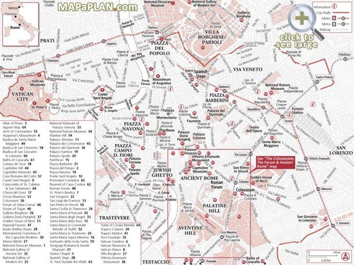 Printable Walking Map Of Rome