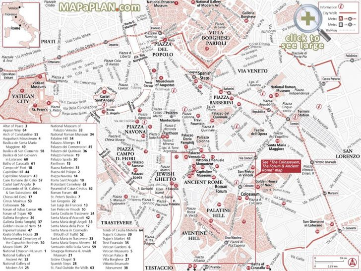 Rome Tourist Map Printable