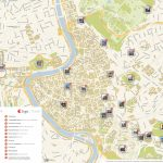 Rome Printable Tourist Map | Sygic Travel Intended For Street Map Of Rome Printable
