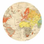 Round Map For World Clock Hack | C: World And History | World Map With Round World Map Printable