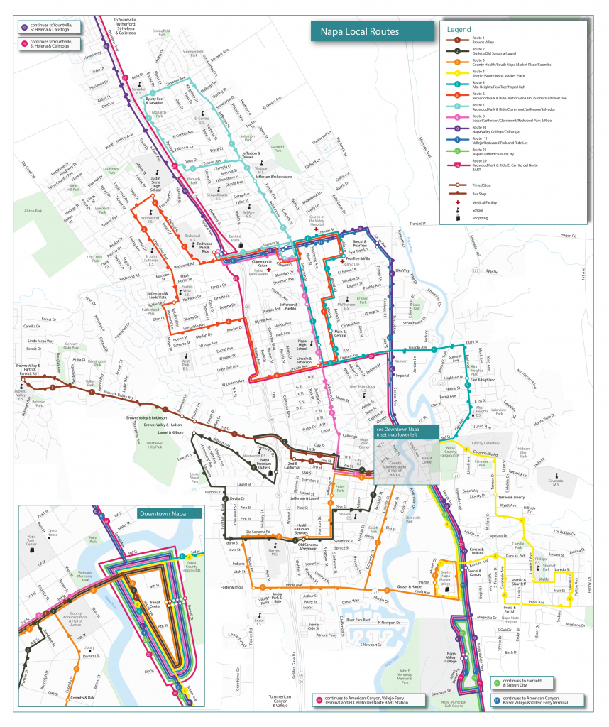 Routes & Schedules | Vine Transit pertaining to Printable Route Maps