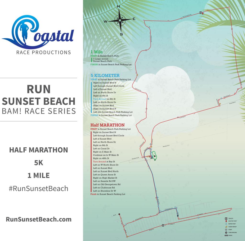 Run Sunset Beach 2019 | Coastal Race Productions regarding Printable Map Of Ocean Isle Beach Nc