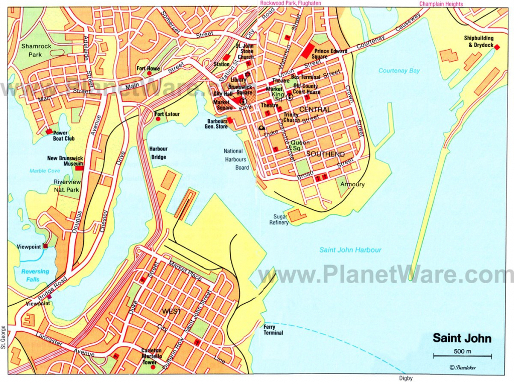 Saint John New Brunswick Canada Cruise Port Of Call regarding Printable Map Of New Brunswick