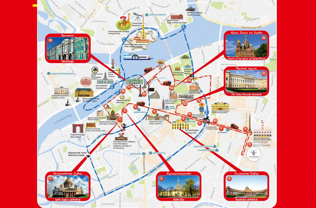 Saint Petersburg Attraction Map - Map Of St Petersburg Russia in Printable Map Of St Petersburg Russia