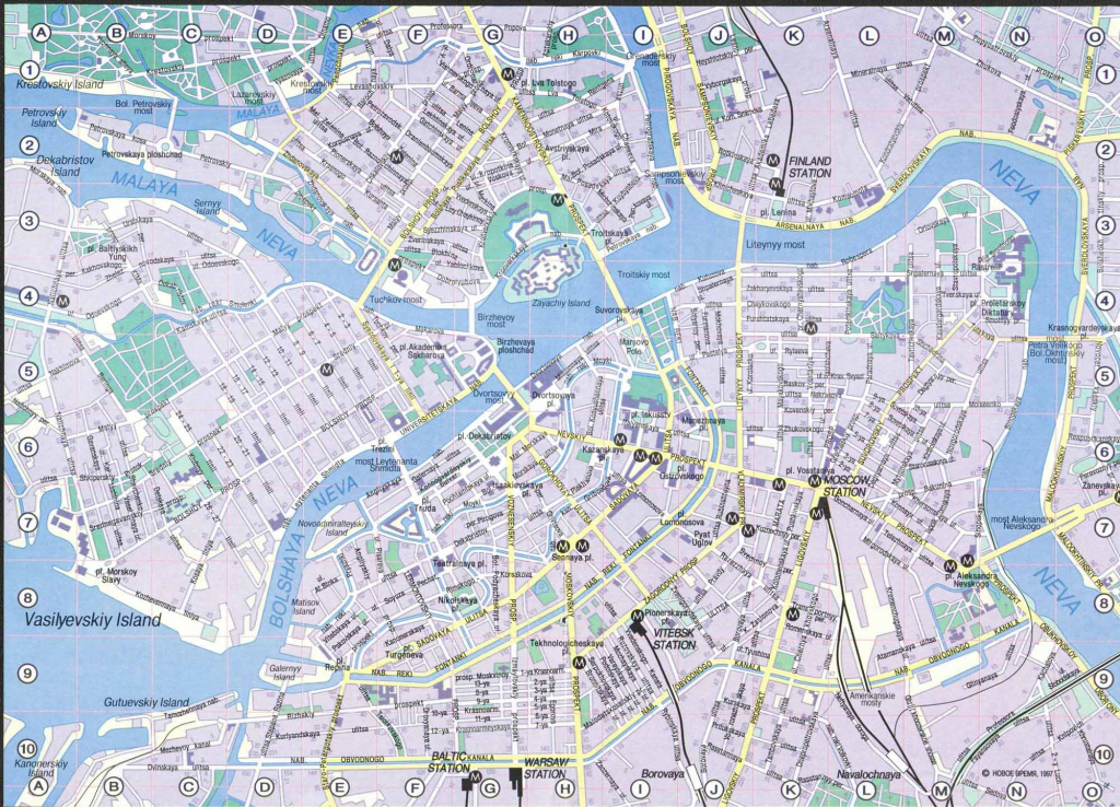 Saint Petersburg Map - Detailed City And Metro Maps Of Saint throughout Printable Map Of St Petersburg Russia